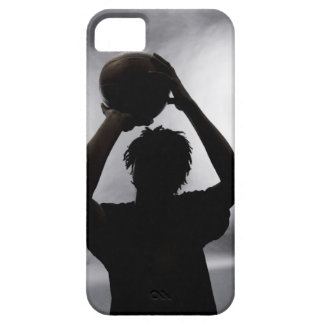 Silhouette of basketball player barely there iPhone 5 case