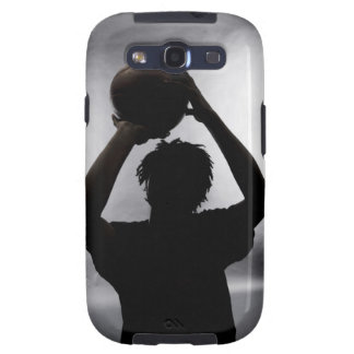 Silhouette of basketball player galaxy s3 cases