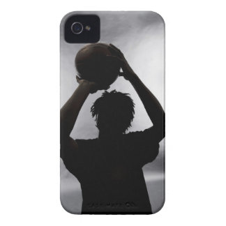Silhouette of basketball player iPhone 4 case