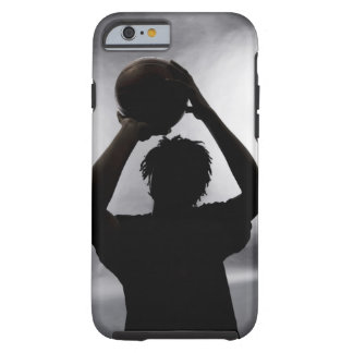 Silhouette of basketball player tough iPhone 6 case
