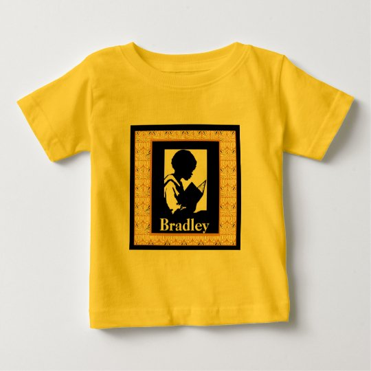 Silhouette of Boy Reading Baby T-Shirt