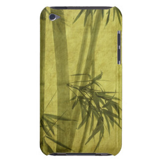 Silhouette of branches of a bamboo on paper barely there iPod cases