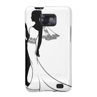 Silhouette of bride and groom wedding couple galaxy SII cases