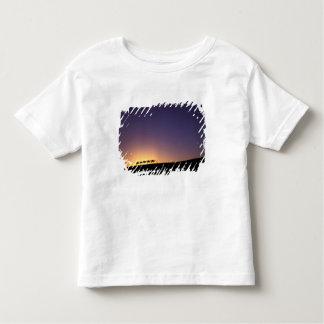 Silhouette of camel caravan on the desert at toddler T-Shirt