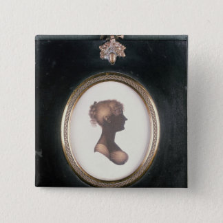 Silhouette of Cassandra Austen, c.1809 15 Cm Square Badge