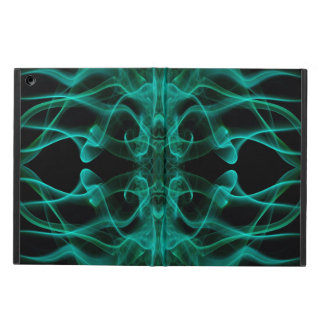 Silhouette of Colored Smoke Abstract green Cover For iPad Air