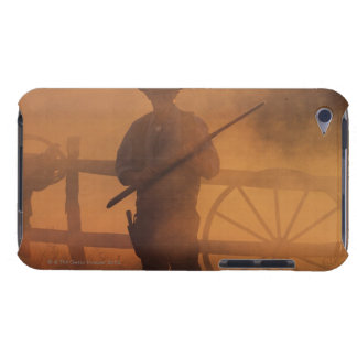 Silhouette of cowboy with rifle in hand iPod touch cover