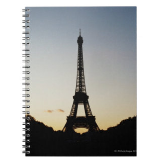 Silhouette of Eiffel Tower Notebook