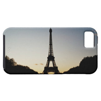Silhouette of Eiffel Tower Tough iPhone 5 Case