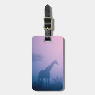 Silhouette Of Giraffe (Giraffa Camelopardalis) Luggage Tag