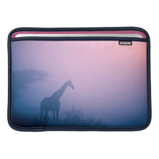 Silhouette Of Giraffe (Giraffa Camelopardalis) MacBook Sleeve