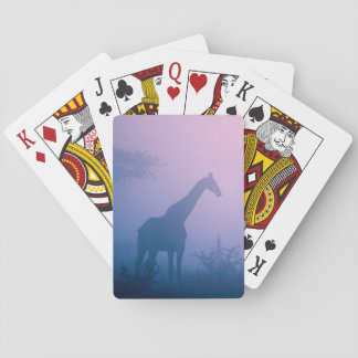 Silhouette Of Giraffe (Giraffa Camelopardalis) Playing Cards