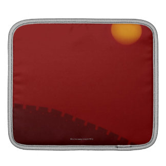 Silhouette of Great Wall of China iPad Sleeve