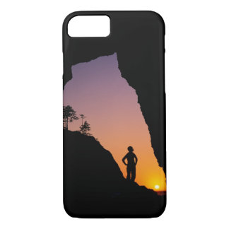 Silhouette of hiker, Point of the Arches, iPhone 8/7 Case