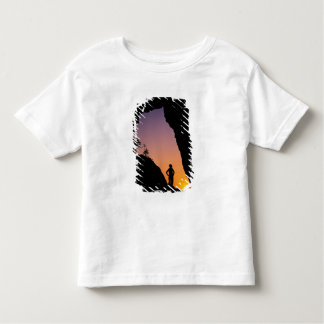 Silhouette of hiker, Point of the Arches, Toddler T-Shirt