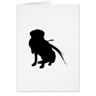 Silhouette of Labrador Retriever with pheasant Greeting Card