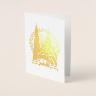 Silhouette of London Foil Card