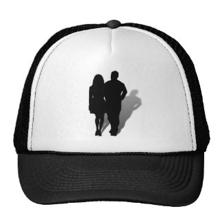 Silhouette of Man & Woman Cap