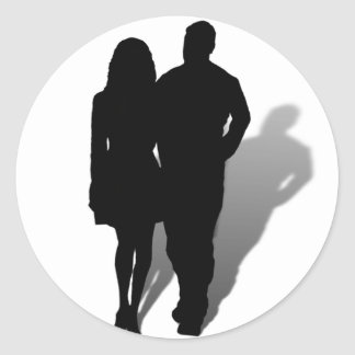 Silhouette of Man & Woman Stickers