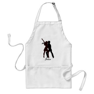Silhouette of Salsa Dancers Adult Apron