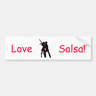 Silhouette of Salsa Dancers Bumper Sticker