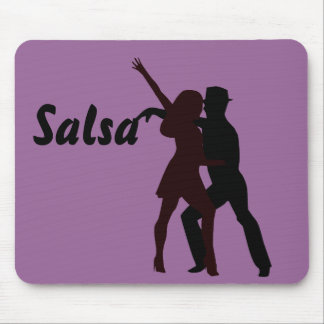Silhouette of Salsa Dancers Mouse Pad