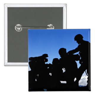 Silhouette of soldiers 15 cm square badge