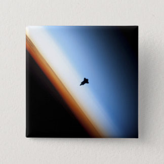 Silhouette of space shuttle Endeavour 15 Cm Square Badge