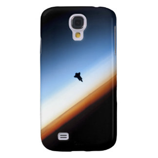 Silhouette of space shuttle Endeavour Galaxy S4 Case