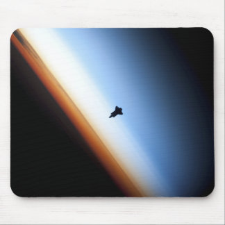 Silhouette of space shuttle Endeavour Mouse Mat
