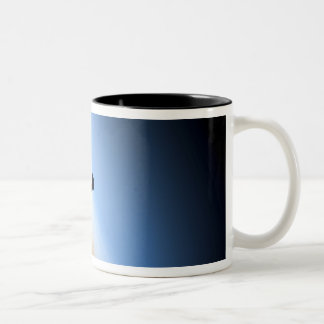 Silhouette of space shuttle Endeavour Two-Tone Coffee Mug