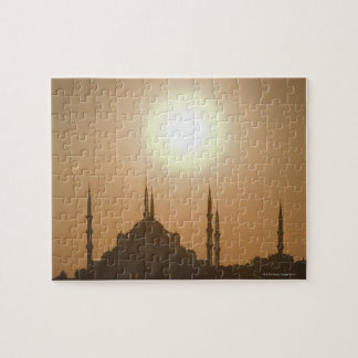 Silhouette of Suleymaniye Turkey, Istanbul Jigsaw Puzzle