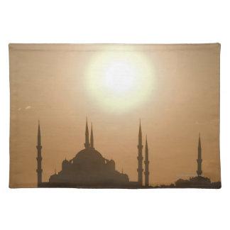 Silhouette of Suleymaniye Turkey, Istanbul Placemat