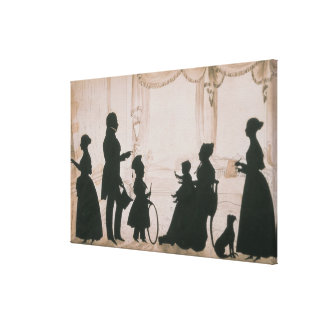 Silhouette of the Camsie Family of Canvas Print