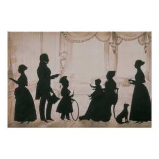 Silhouette of the Camsie Family of Poster