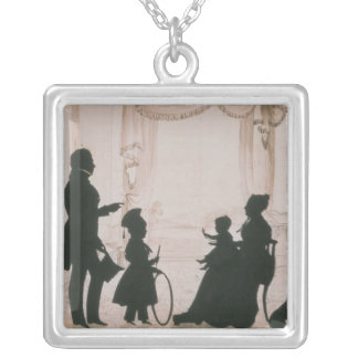 Silhouette of the Camsie Family of Silver Plated Necklace