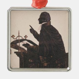 Silhouette of the Rev. L. Littleton Powys Christmas Ornament