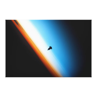 Silhouette of the Space Shuttle Endeavour Stretched Canvas Prints
