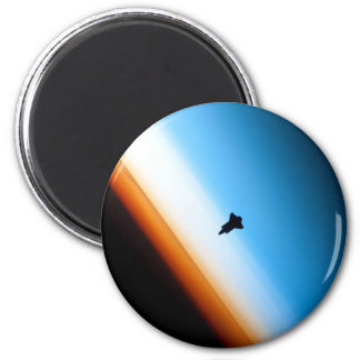 Silhouette of the Space Shuttle Endeavour Fridge Magnets