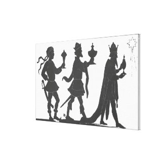 Silhouette of the Three Kings Canvas Print