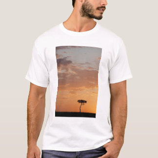 Silhouette of tree on plain, Masai Mara T-Shirt