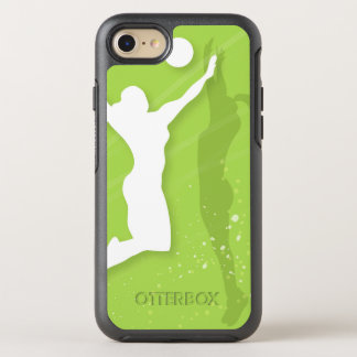 Silhouette of two women playing volleyball OtterBox symmetry iPhone 8/7 case