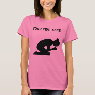Silhouette of Woman On her Knees Praying T-Shirt