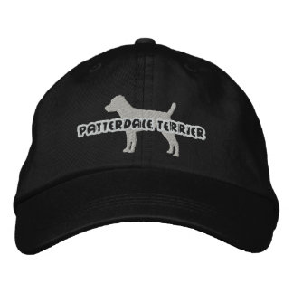 Silhouette Patterdale Terrier Embroidered Hat