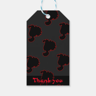 silhouette pattern gift tags