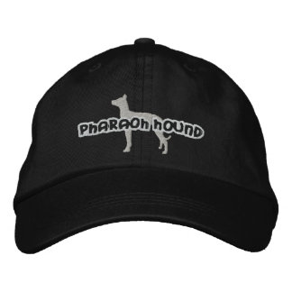 Silhouette Pharaoh Hound Embroidered Hat