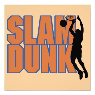 Silhouette Player Slam Dunk Tshirts and Gifts Custom Invites
