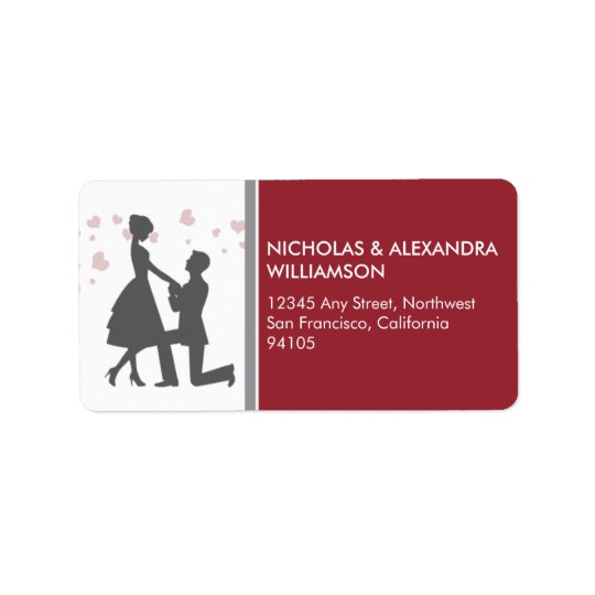 Silhouette Proposal Return Address Labels (red)