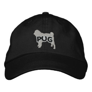 Silhouette Pug Embroidered Hat