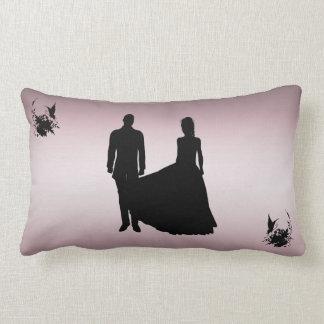 Silhouette Romantic Couple American Mojo Pillow